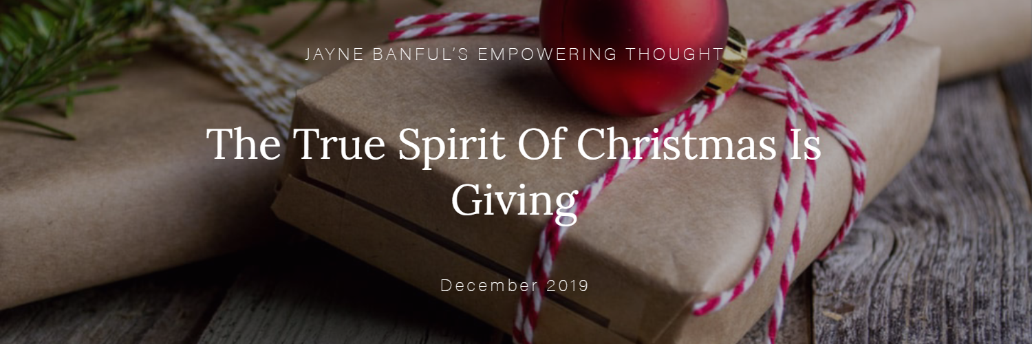 The True Spirit Of Christmas Is Giving