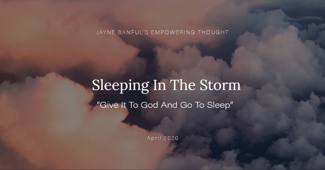 Sleeping in the storm
