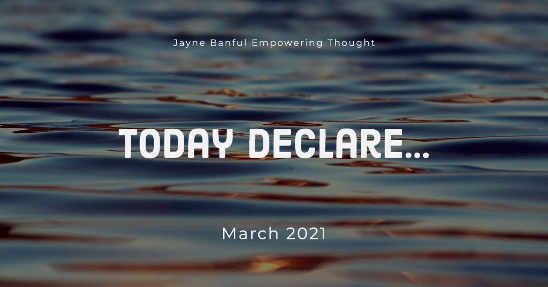 Today Declare…